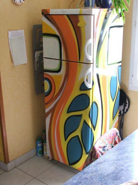 Customisation d un frigo avec un film 3M Alu Bross -